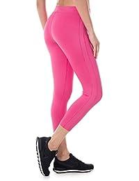 SYROKAN Femme Legging Sport Collant Capri de Running Pure Lime Fitness  Pantalon 37952fb5db4