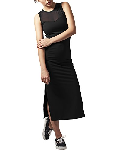 Urban Classics Damen Kleid Ladies Tech Mesh Dress Schwarz (Black 7)