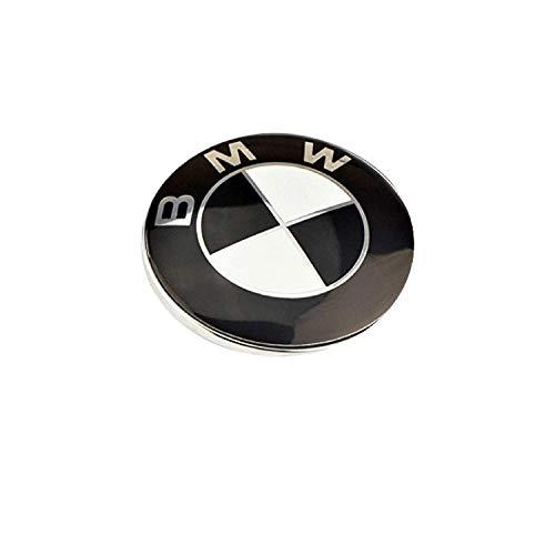 Ersatz Emblem Schwarz Weiß 29mm Innenraum Multimedia Geräusch Knopf iDrive Steuerung Abzeichen (Knöpfe Und Abzeichen)