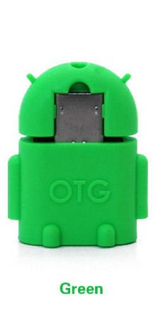 KRS A1 Grün - USB OTG Robot - otg Adapter Micro-USB-Stecker Typ B / USB-Kupplung Buchse Typ A OTG Android Roboter Robot -USB Adapter für Huawei Ascend Mate Mate 2 P6 P6S Samsung Galaxy S2 I9100 I9105P S3 I9300 I9305 Note N7000 Sony Xperia Z1 L39h Z1f Honami Mini Compact ZL L35i Tablet Z (Grün)