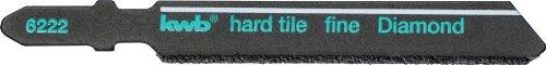 kwb Stichsägeblatt 622220 (Diamant bestreut für Fliesen- und Keramikbearbeitung, T-Schaft für nahezu fast alle handelsüblichen Stichsägen)