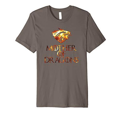 Mutter der Drachen Shirt Cool Funny Mittelalter Geschenk Top Tee