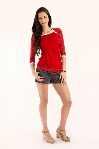 Milchshake - süßes Umstands- / Stillshirt - 3/4el Arm - Winona erdbeerrot