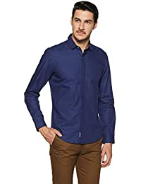 Indigo Nation Men's Solid Slim Fit Formal Shirt