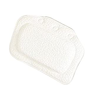 bathtub pillow - TOOGOO(R) Home & Garden Bathroom bathtub pillow bath bathtub headrest suction cup waterproof Bath Pillows Bathroom Products White