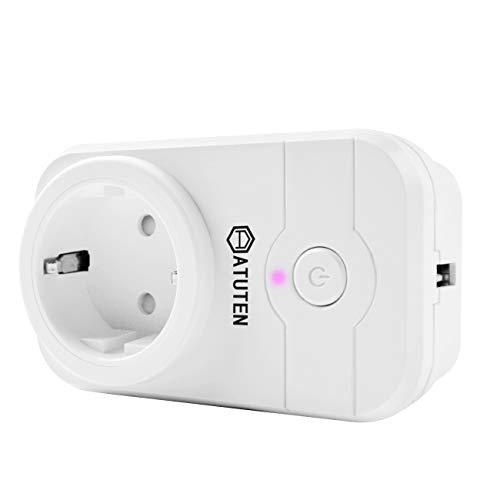 Enchufe Inteligente Wifi con puerto USB, Atuten Inalámbrico Zócalo del Interruptor con temporizador y Control Remoto, para Android / IOS, Compatible con Amazon Alexa y Google Home, No se Requiere Hub, 13A
