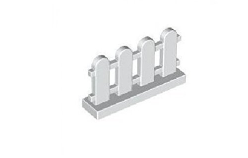 LEGO Building Accessories 1 x 4 x 2 White Picket Fence, Bulk - 50 Pieces per Package by