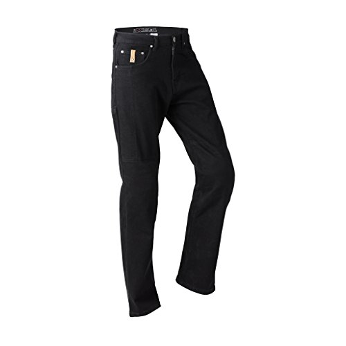 Lookwell Jeans Joan Herren Motorrad Reiten Hose, Regular, schwarz, Größe 38
