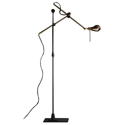Retro ferro lungo braccio lampada da pavimento
