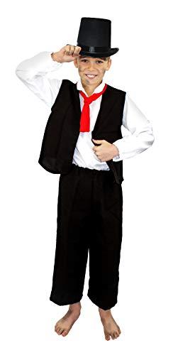 Kostüm Dickensian Boy - ILOVEFANCYDRESS Kinder KOSTÜM VERKLEIDUNG=VIKTORIEN Art=ENGLISCHEN Poor Boy KOSTÜMIERUNG=Fasching/Karneval/BUCHWOCHE SCHULAUFFÜHRUNGEN=MIT UND OHNE Zylinder Hut=MIT Hut-SMALL