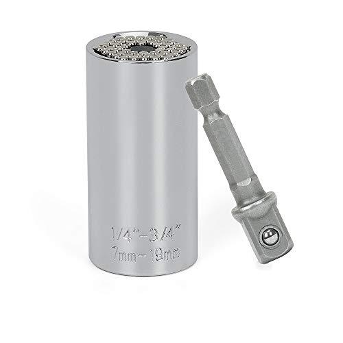 Universalschlüssel Adapter,steckschlüssel adapter Multi Funktions Handwerkzeuge Universal Reparatur Werkzeuge 7-19mm ,Repair werkzeuge set Selbsteinstellende Kombination für die Automobilindustrie