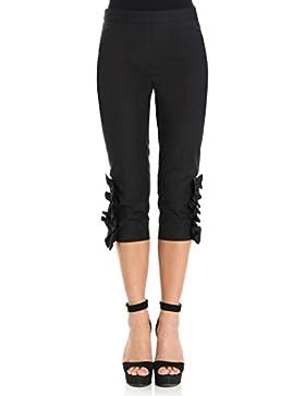 BOUTIQUE MOSCHINO Pantalone Cropped in Misto Cotone A0310