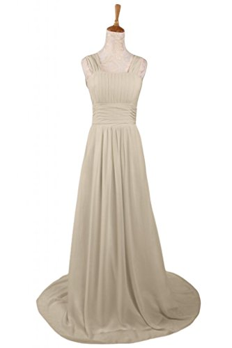 Sunvary Charming A-Line abito da sera, formale Pageant, Maxi Champagne