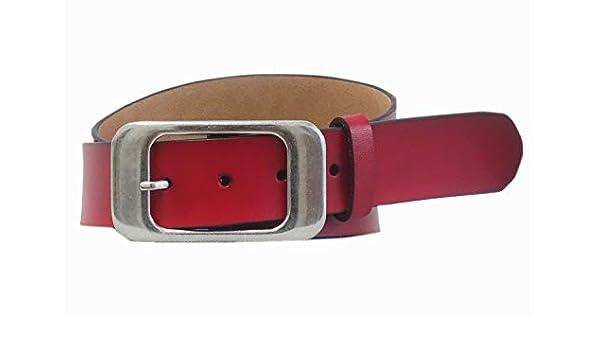 Damen Stretchgürtel Leder Gürtel Taillengürtel Hüftgürtel Schwarz SA-885