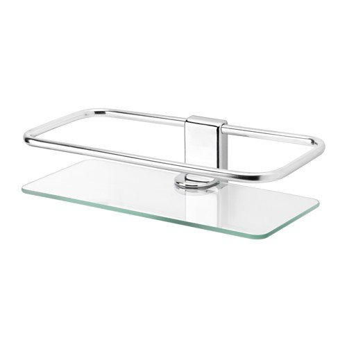 IKEA kALKGRUND tablette en verre chromé