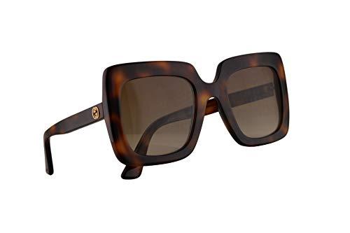 Gucci GG0328S Sonnenbrille Havana Braun Mit Braunem Verlaufsglas Gläsern 53mm 002 GG0328/S 0328/S GG 0328S