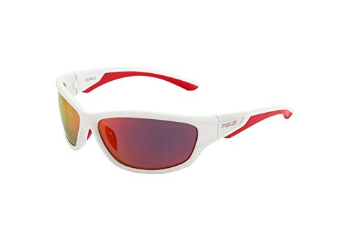 Mawaii - Tempt - White Glossy/red/red/orange Mirror Lenses Polarized - inkl. Mikrofaserbeutel