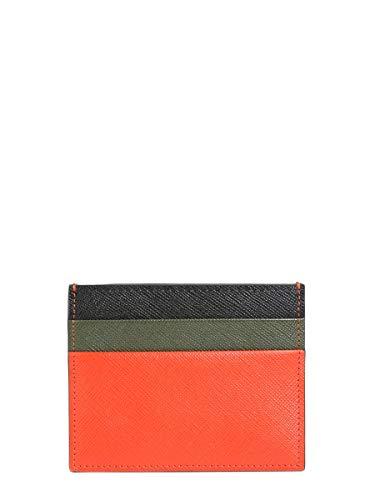 Marni Herren Pfmi0002l0lv520z2a11 Multicolour Leder Kreditkartenetui