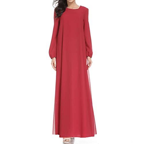 Muslim Maxikleid Elegante Muslimischen Kaftan Kleid Trompetenärmel Abaya Muslim Damen Lange Muslim Robe Kleider Tunika mit Gürtel