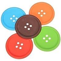 Lyanther - Posavasos de Silicona (4 Piezas), diseño de Botones