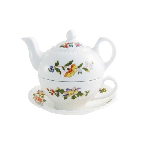 Aynsley Kuchengabeln Cottage Garden, Tea for One, Weiß (China Aynsley Bone)