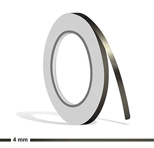 Siviwonder Zierstreifen anthrazit grau metallic Glanz in 4 mm Breite und 10 m Länge Folie Aufkleber für Auto Boot Jetski Modellbau Klebeband Dekorstreifen dunkelgrau Silber