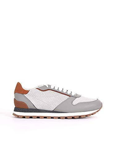 Brunello Cucinelli Sneakers Uomo Mzufcpa227cq048 Pelle Grigio