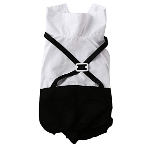 LWANFEI Hundeanzug Pet stilvolle Kleidung Fliege Kostüm, Hochzeit Hemd Formale Smoking mit Krawatte Anzug, ()