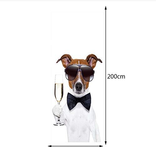 PANDABOOM 77X200 cm Hund Kellner Bild Wandbild Tür Aufkleber Tapete Aufkleber Dekoration Schlafzimmer Kinderzimmer