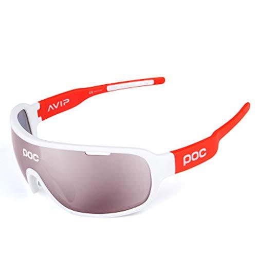 W.zz Fahrradbrille Männer und Frauen im Freien tragen sanddichte Schutzbrillen zum Radfahren bei. Geeignet zum Radfahren. Baseballfischen. Skifahren. Laufen,Whitetangerine