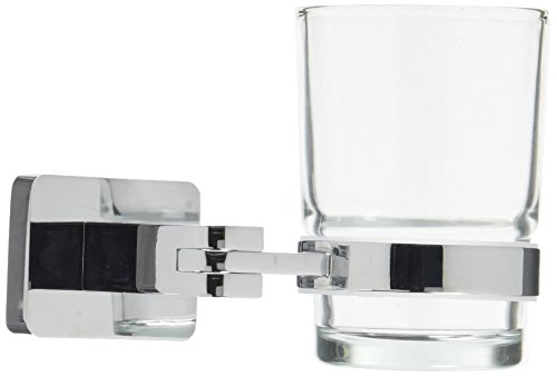 homeXpert MSV 141451Bari Mundglas aus Messing verchromt/Metall Silber 12,4x 9,8x 16cm