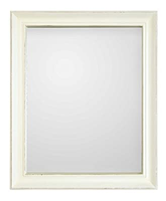 Innova 50 x 60 cm Casa Vintage Rectangular Mirror, White