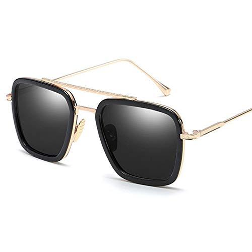 WWVAVA Sonnenbrillen Men Vintage Steampunk Sonnenbrille BrandMan Goggles RetroSteam PunkSonnenbrilleUV400, c06