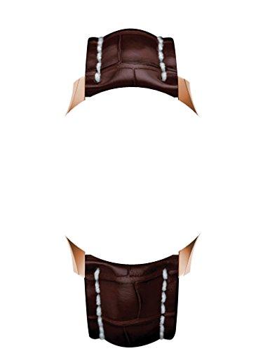 22/20mm Träger aus Armbanduhr Schwarz Silikon/Kautschuk Silber Verschluss an Breitling Uhren