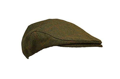 Walker & Hawkes - Kids Derby Tweed Flat Cap Hunting Shooting Countrywear Hat - Dark Sage