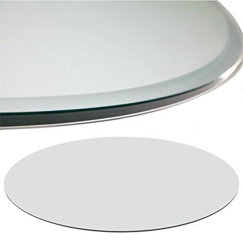 Glasscheibe Glasplatte Klarglas Rund 80 cm Funkenschutzplatte Glasboden Bodenplatte für Kamin Ofen Glas Glasbodenplatte Kaminbodenplatte Funkenschutz Kaminofen 6 mm Sicherheitsglas
