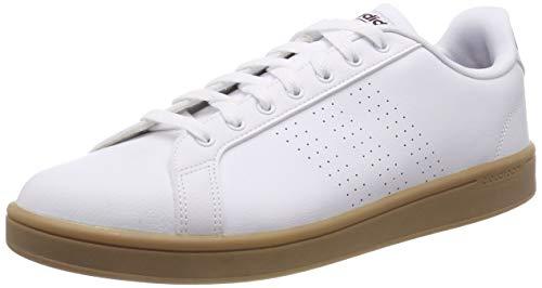adidas Herren Cloudfoam Advantage Clean Gymnastikschuhe Weiß (FTWR White/Maroon/Gum4) 46 EU