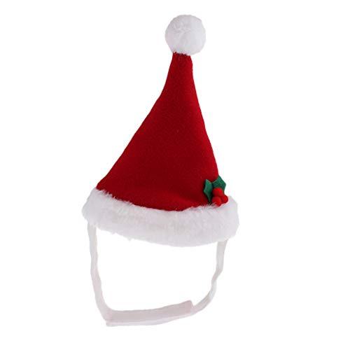 FLAMEER Weihnachtsmütze Nikolausmütze Santa Mütze für Katzen Welpen Kaninchen