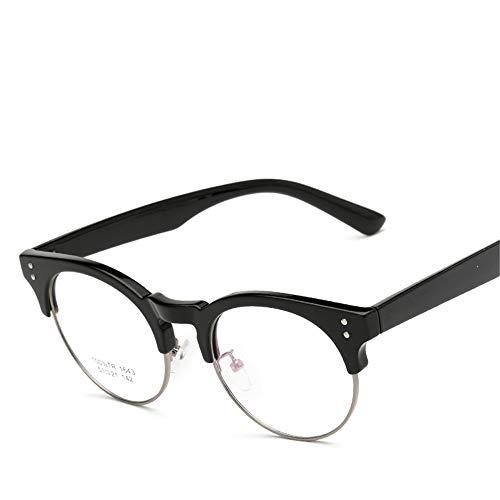 Yiph-Sunglass Sonnenbrillen Mode Flache Brille für spezielle Rahmen Ultraleichtes TR90 Wiederherstellen der Alten Wege Männer und Frauen LUE Shading-Brille für Sutdents/Büroangestellte