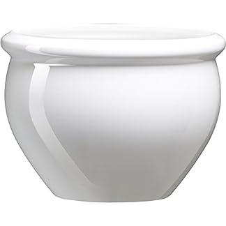 Emsa 512668 Siena Nobile – Maceta con aspecto de cerámica vidriada, Material de plástico,  Blanco perla, 26 x 19 cm
