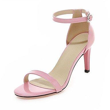 CH&TOU Da donnaMatrimonio / Formale / Casual / Serata e festa-Tacchi-A stiletto-Finta pelle-Nero / Blu / Rosa / Bianco Pink