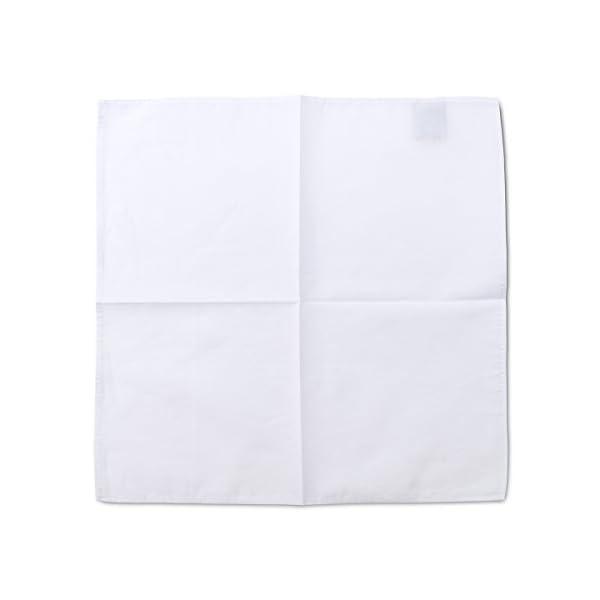 2Clicks - Fazzoletto da uomo di Dapper Pocket Square in 100% cotone, vari colori 1 spesavip