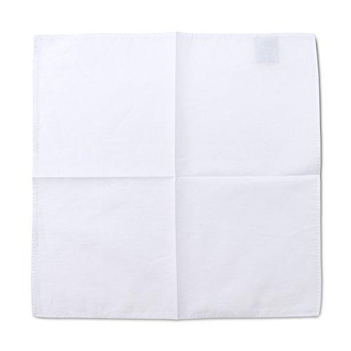 Dapper Herren Elegantes Einstecktuch aus 100% Baumwolle - Klassisch Weiß