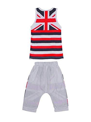 (Baby Kapuzenpulli Honestyi Kinder Baby Jungen Union Jack Outfits Weste Tops Hosen Set Kleidung (Weiß,100))