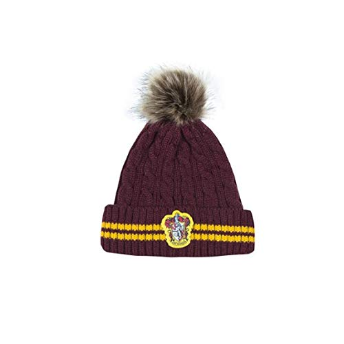 Cinereplicas - Harry Potter - Pompon Bonnet - Licence Officielle - Maison Gryffondor - Rouge et Jaune