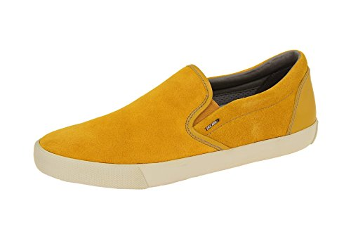Geox U Smart A, Baskets Basses Homme Jaune