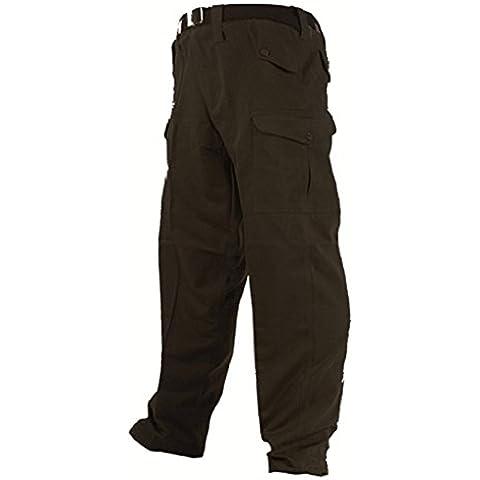 Highlander US Military-Pantaloni da uomo, stile Cargo, colore: nero nero nero 34W x Reg