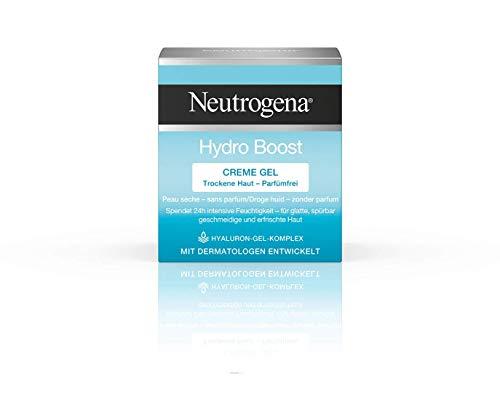 Neutrogena Hydro Boost Creme Gel - Feuchtigkeitspflege mit einer leichten, cremigen Textur - Mit Hyaluron-Gel-Komplex - 1 x 50 ml