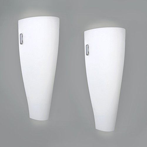 pair-of-modern-white-and-chrome-curved-frosted-glass-up-down-indoor-flush-wall-light-fittings