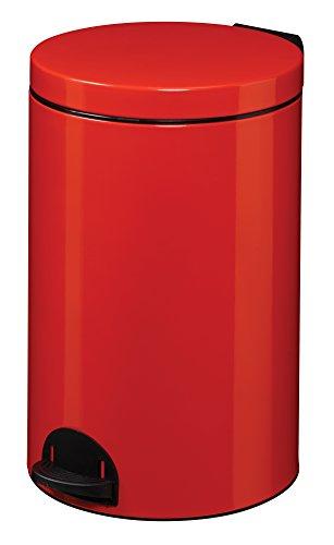 Rossignol Elora Poubelle Rouge 20 litres, INOX, 33x33x54 cm